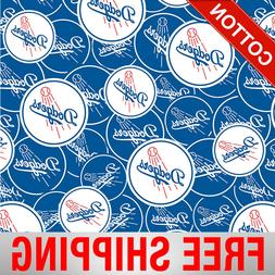 Los Angeles Dodgers MLB Cotton Fabric - Style# 6685 - Free S