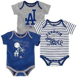 """Majestic Los Angeles Dodgers MLB Infant """"Home Run"""" 3-Pack Bo"""
