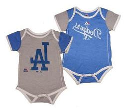 """Majestic Los Angeles Dodgers MLB Infant """"Vintage Baby"""" 2-Pac"""