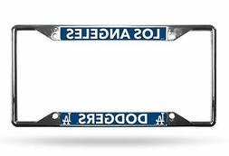 Los Angeles Dodgers MLB Lightweight Chrome Metal License Pla