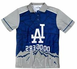 Los Angeles Dodgers MLB Polyester Short Sleeve Thematic Polo