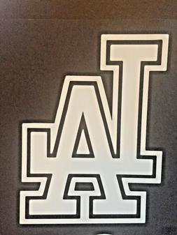LOS ANGELES DODGERS MLB WHITE VINYL STICKER / DECAL