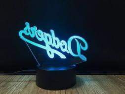 Los Angeles Dodgers Night Light LED 3D Mlb Baseball New