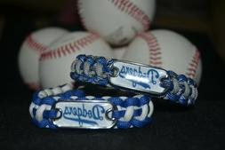 Los Angeles Dodgers Paracord Bracelet w/ MLB Dog Tag and Met