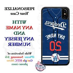 Los Angeles Dodgers Personalize Baseball jersey Phone Case C