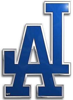 Los Angeles Dodgers Premium Metal Aluminum Color Chrome Auto