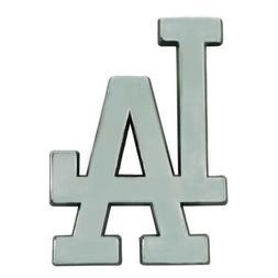 Los Angeles Dodgers Premium Solid Metal Chrome Auto Emblem D