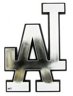 Los Angeles Dodgers Raised Silver Chrome Colored Auto Emblem