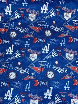 Los Angeles Dodgers Retro Fabric Cotton 1/4 Yard X 58inches