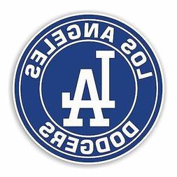 Los Angeles Dodgers Round Decal / Sticker Die cut