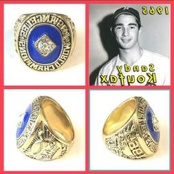 Los Angeles Dodgers Sandy Koufax 1965 Championship Ring Size