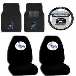 Los Angeles Dodgers Seat Covers set w/ Floor Mats & Steering