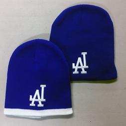 Los Angeles Dodgers Short Beanie Embroidered LA Skull Cap Ha