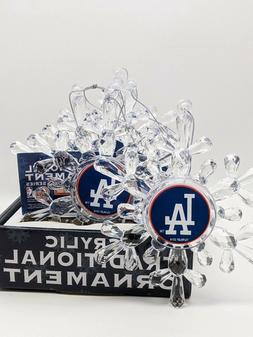 Los Angeles Dodgers Snowflake Ornaments - PACK OF 6 - MLB