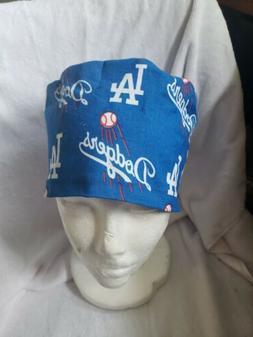 LOS ANGELES DODGERS Handmade SURGICAL SCRUB CAPS