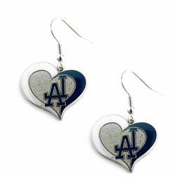 Los Angeles Dodgers Swirl Heart Earrings