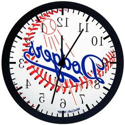 Los Angeles Dodgers Black Frame Wall Clock E73