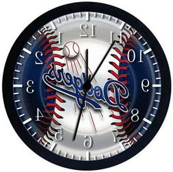 Los Angeles Dodgers Black Frame Wall Clock E85