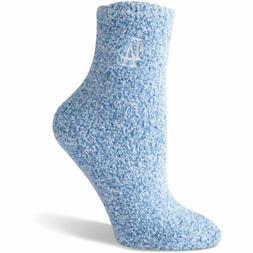 Los Angeles Dodgers Women's Blue Fuzzy Block Tri-Blend Socks