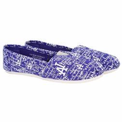 Los Angeles Dodgers Women's Script Canvas Shoes Slide Slip O