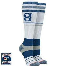 Los Angeles Dodgers Stance Women's Tall Boot Tube Socks- Whi