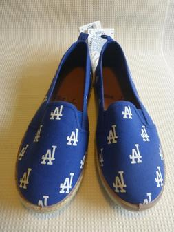 Los Angeles Dodgers womens canvas shoes, size L 9/10