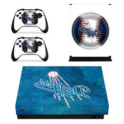 Los Angeles Dodgers XBOX ONE X Skin Sticker Decal Vinyl Cons
