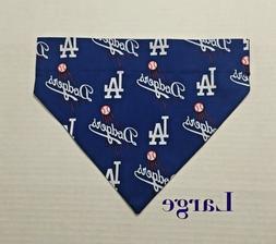 Los Angeles LA Dodgers Baseball Over Collar Slide On Pet Dog