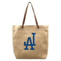 Los Angeles LA Dodgers Burlap Market Tote Bag Purse Handbag