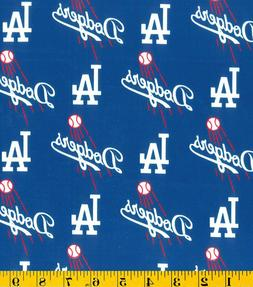 "Los Angeles LA  DODGERS COTTON FABRIC FQ 18""x29""-perfect for"