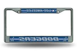 Los Angeles LA Dodgers MLB Glitter Bling Chrome License Plat