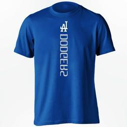 Los Angeles LA Dodgers Vertical Design MLB T-Shirt - S-5XL