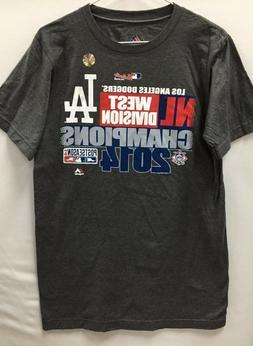 "Majestic Clothing Men T-Shirt ""Los Angeles Dodgers"" -- Authe"