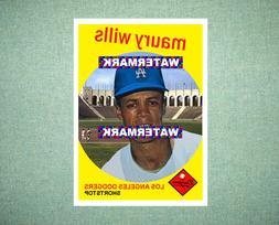 Maury Wills Los Angeles Dodgers 1959 Style Custom Baseball A