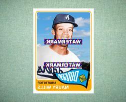 Maury Wills Los Angeles Dodgers 1965 Style Custom Baseball A