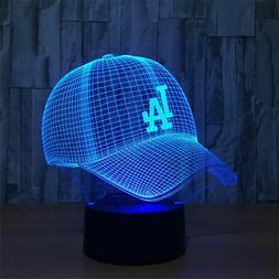 MBL Los Angeles Dodgers cap 3D table night 7 color led sport