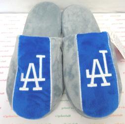 Men's Los Angeles Dodgers Big Logo Stripe Slippers by Foreve