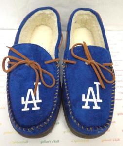 Men's Los Angeles Dodgers Team Color Big Logo Moccasin Slipp