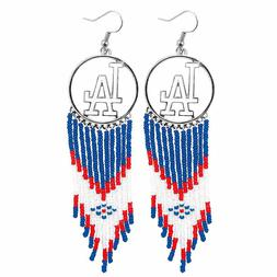 MLB Authentic Los Angeles Dodgers Dreamcatcher Earrings made