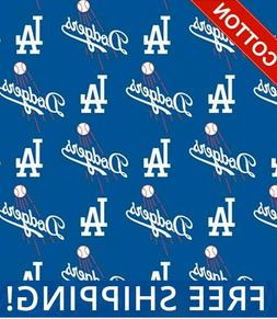 MLB Baseball Cotton Los Angeles Dodgers Fabric, by The Yard