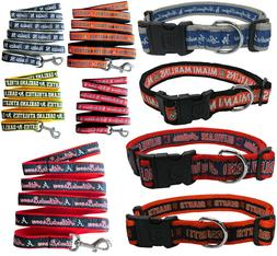MLB Fan Pet Gear Dog Collar or Dog Leash for Dogs -PICK YOUR