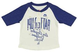 Majestic MLB Infant Girls Los Angeles Dodgers 3/4 Sleeve Hen