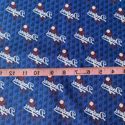 Mlb La Dodgers Los Angeles Baseball 100% COTTON FABRIC 1/4 Y