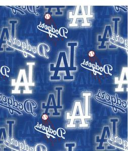 MLB LA Team Los Angeles Dodgers DOT Baseball 100% Cotton Fab