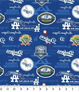 MLB LA Team Los Angeles Dodgers STADIUM Baseball 100% Cotton