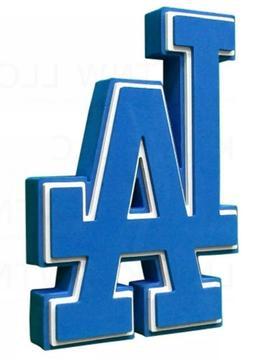 MLB Los Angeles Dodgers 3D Foam Logo Magnet Offically Licens