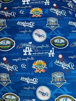 MLB Los Angeles Dodgers Anniversary Fabric 100% Cotton - 1 Y