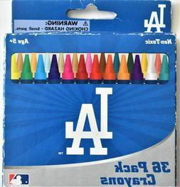 MLB Los Angeles Dodgers Baseball 36 Crayon Set Blue Sports S