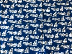 Fabric Vintage MLB Los Angeles Dodgers Baseball Cotton   1/4