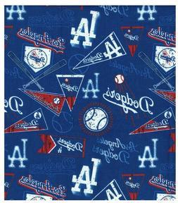 MLB Los Angeles Dodgers Baseball Cotton Fabric 1/2 yard or 1